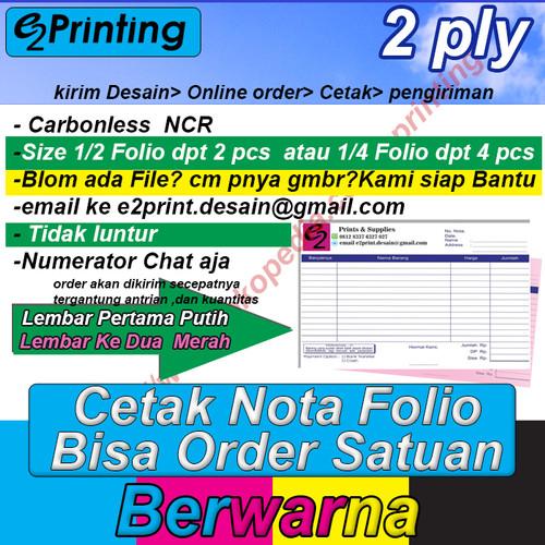 Foto Produk Cetak Nota bon 2ply bisa satuan CMYK dari E&EPrintingsupplies