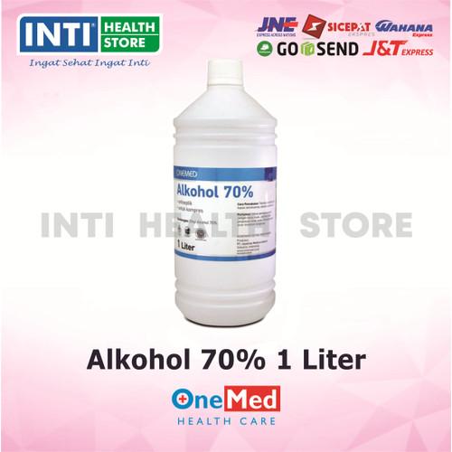 Foto Produk ONEMED Alkohol 70% 1 liter / Alkohol Antiseptik dari Inti Health Store