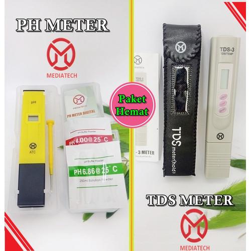 Foto Produk Paket Alat Ukur pH Meter & TDS Tester Digital Air Akuarium Hidroponik dari Beauty n Health