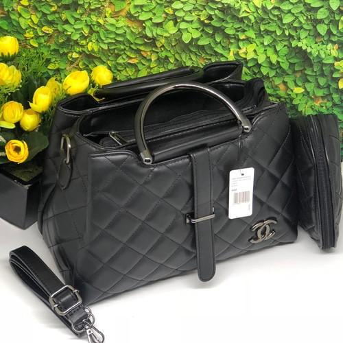 Foto Produk Tas wanita chanel lidah/tas wanita murah/tas wamita brandet import - Hitam dari al-razaak shop