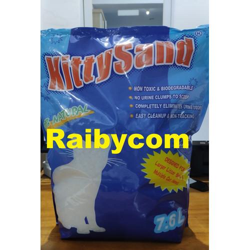 Foto Produk Pasir Kucing Kristal Silika 7.6 Liter Kitty Sand Silica 100% Natural dari Raibycom