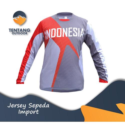Foto Produk Jersey Sepeda Import INDONESIA N018 Downhill MTB Baju Gowes - M dari TentangOutdoor