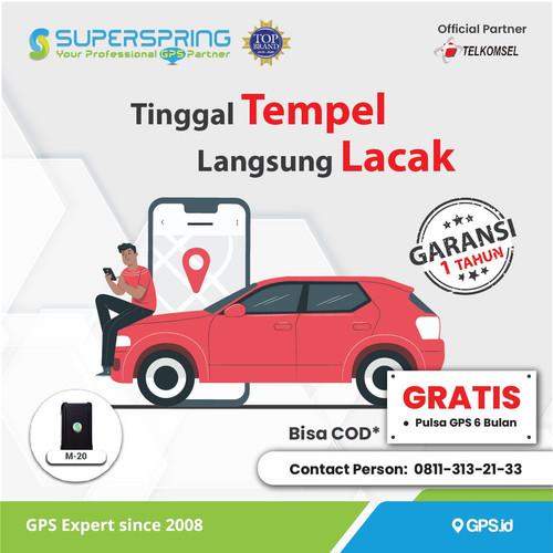 Foto Produk GPS Tracker Portable SUPERPRING M20 (Praktis,Tanpa Ribet,Magnet Kuat) dari Super Spring Official