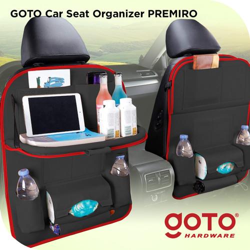 Foto Produk Goto Premiro Car Seat Organizer Leather Tas Jok Kursi Mobil Meja Kulit - Black Sport dari GOTO Hardware