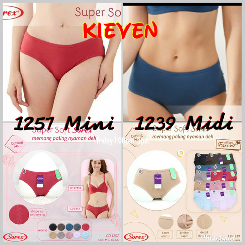Foto Produk Cd celana dalam wanita sorex 1257 mini dan 1239 midi super soft ori - 1257 Mini, M dari kieven