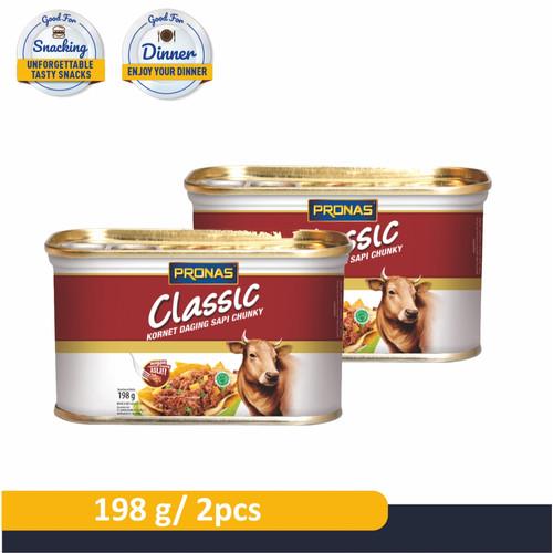 Foto Produk PRONAS Kornet Sapi dengan Daging Suwir 198 g (CHUNKY) Bundling 2 pcs dari Pronas Official Store