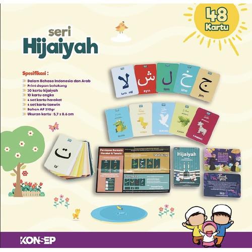 Foto Produk Flashcard Hijaiyah - Kartu Edukasi - Flash Card by Konsep Studio dari Kinantikomik