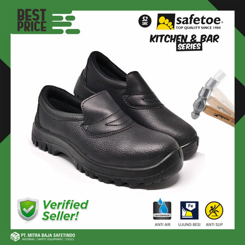 Foto Produk Sepatu Safety SAFETOE Kitchen Chef Anti Minyak Air Detergen DRACO PU - 41 dari MITRABAJA SAFETINDO