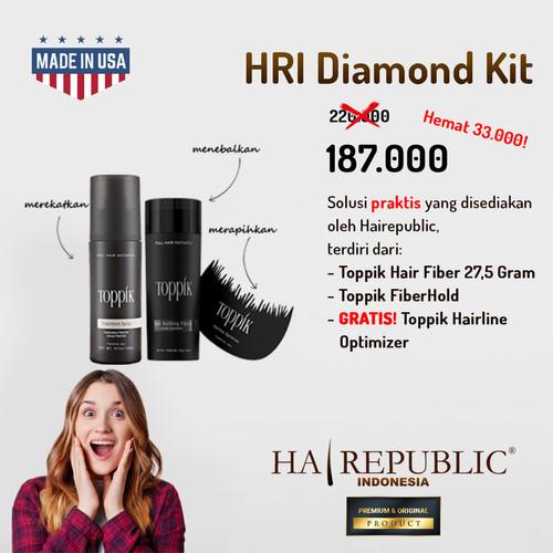 Foto Produk Toppik Hair Kit Diamond (Fiber 27.5G + Fiberhold + Hair Optimizer) dari HAIREPUBLIC Group