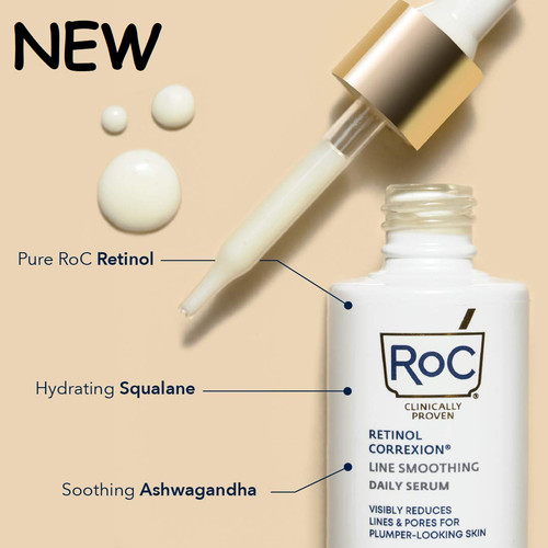 Foto Produk RoC Retinol Correxion Line Smoothing Retinol Serum for Pores Fine Line - 30ml in box dari Winnie's Stores