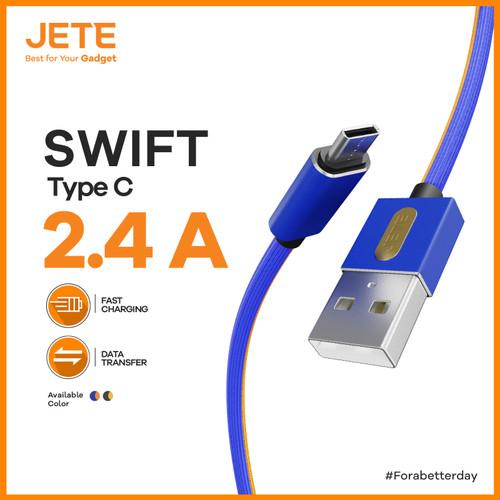 Foto Produk Kabel Data Charger 100cm USB - Swift Type C Fast Charging Cable - Biru dari JeteIndonesia