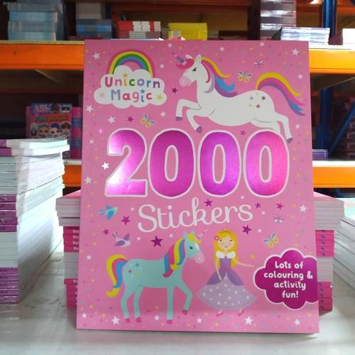 Foto Produk Colouring and activity fun book : 2000 Stickers Unicorn Magic Sticker dari Booktubers id
