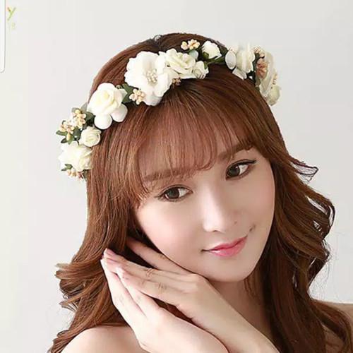 Foto Produk Mahkota Bunga Flower Crown Bandana Bunga Hiasan Rambut Bunga Pesta FC3 dari Star Gallery