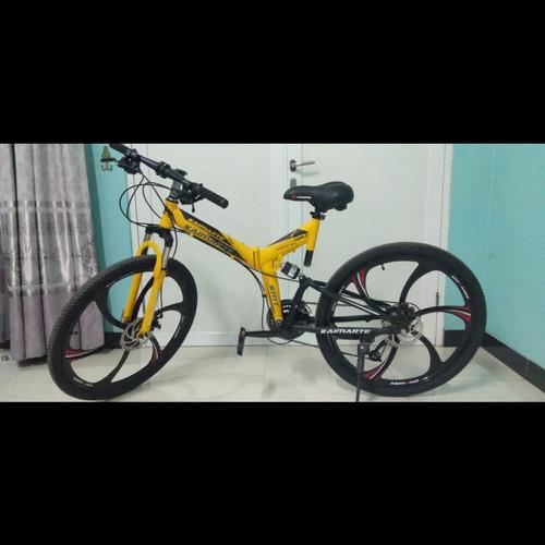 Foto Produk READY Sepeda Lipat Gunung Trendy Kamarte - Mountain Bike Folded Trendy - Hitam, 21 speed dari Koreanholicshop