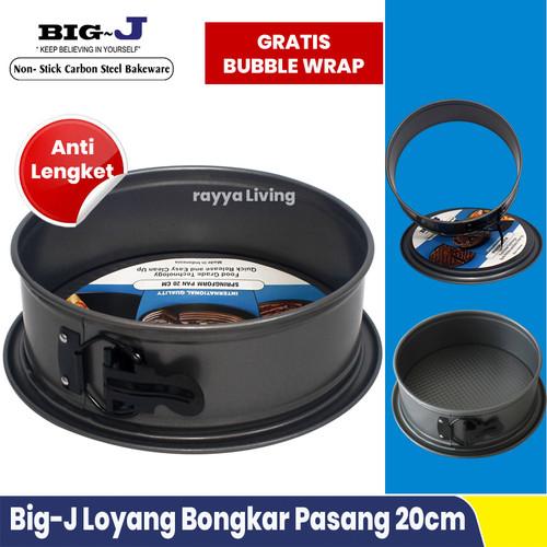 Foto Produk Loyang Kue Bulat Bongkar Pasang 20 Cm Anti Lengket - Big J Spring Form dari Rayya Living