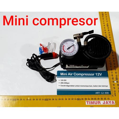 Foto Produk Mini Air Compressor / kompresor pompa angin ban mobil Nankai dari TOKO BESI TIMUR JAYA