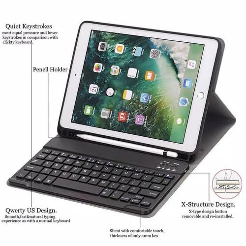 Foto Produk Slim Keyboard Ipad 8 10.2 2020 flip case bluetooth book cover ipad8 th dari acosonic