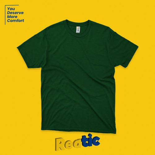 Foto Produk Reatic Kaos Polos Oblong Cotton Heavyweight - Hijau Botol dari Reatic
