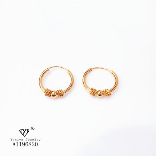 Foto Produk Anting Gipsy Pentul Polos Perhiasan Imitasi Lapis Emas 18K 390 - 15MM dari YAXIYA JEWELRY