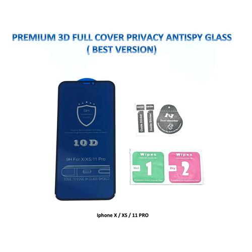 Foto Produk Iphone X / XS 11 PRO 3D FULL Privacy Anti Spy / Antispy Tempered Glass dari Pro Glass