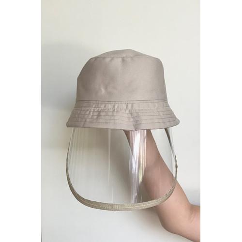 Foto Produk Topi corona anak dan topi bayi / Topi anti corona bayi / face shield - cream dari Jaya Barang Utama