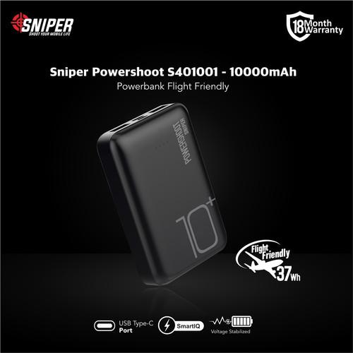 Foto Produk Powerbank Sniper 10000 mAh Powershoot S401001 V2.0 dari Sniper Indonesia