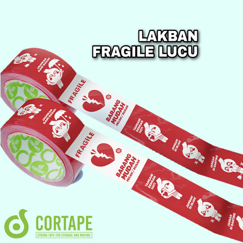Foto Produk LAKBAN FRAGILE LUCU - JANGAN DIBANTING - CORTAPE dari Buana Packing