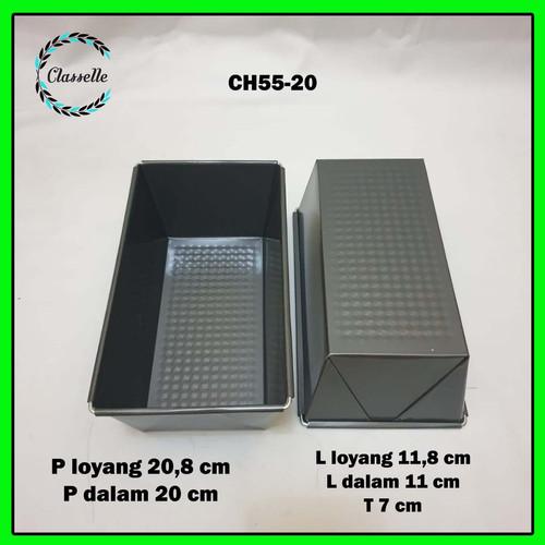 Foto Produk Loyang Kue Bolu Roti Brownies Anti Lengket Import CH55-20 dari Toko Classelle