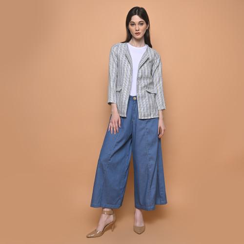 Foto Produk Cammomile Celana Kulot Jeans 1909012 - Navy, M dari Cammomile FashionLine