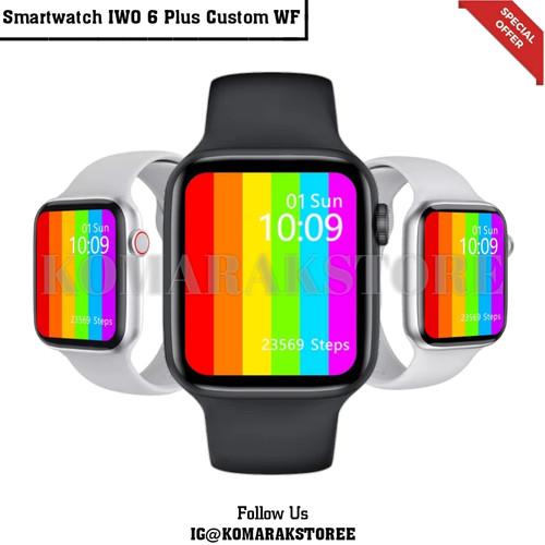 Foto Produk Smartwatch IWO 6 Plus W46 Wireless Charger Bisa Custom WF Komarakstore - Hitam, 40mm dari KomarakStoreS