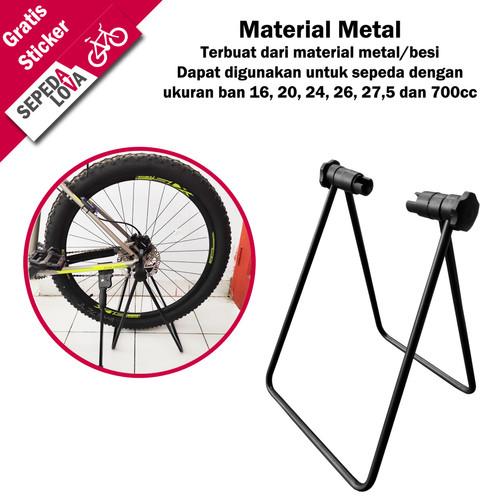 Foto Produk Standar Segitiga Sepeda Paddock Padox Bike Stand Lipat U Shape dari SepedaLova
