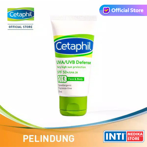 Foto Produk CETAPHIL - UVA/UVB Defense SPF 50 50 ml | Sunscreen Sunblock Cetaphil dari INTI MEDIKA STORE
