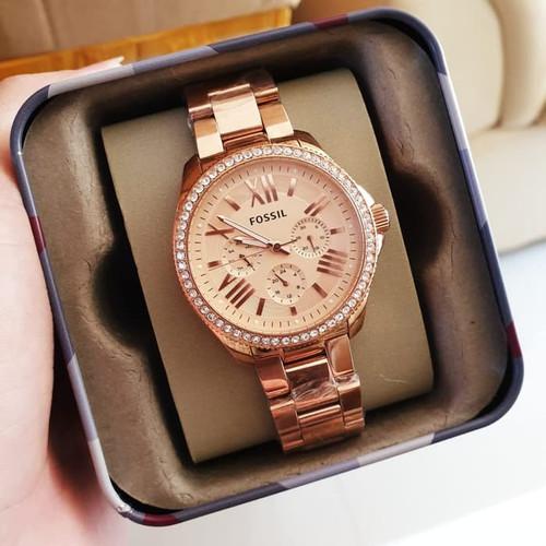 Foto Produk (100% ORIGINAL) Jam Tangan FOSSIL Crystal AM4483 Wanita 40mm FULLSET - Gold dari THAI SHOP OFFICIAL