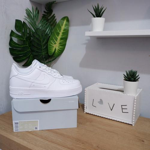 """Foto Produk Nike air Force 1 0' 7 Low """" full White """" original dari slave sneakers"""