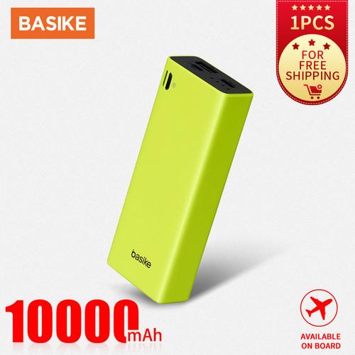 Foto Produk Power Bank Murah Mini Dual USB LCD BASIKE 10000 mAh Bank Ori Fast - PT801 - Green dari Basike Official Store