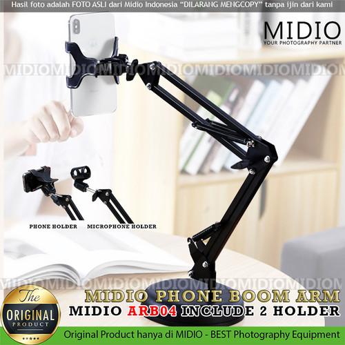 Foto Produk Stand HP Midio ARB04 Holder Meja Stand Phone Holder 360 Lazypod HP dari Midio