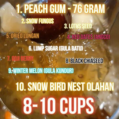 Foto Produk Paket Peach Gum Collagen Dessert Super Grade ++ Big Size untuk 8 porsi dari Funkies Lab