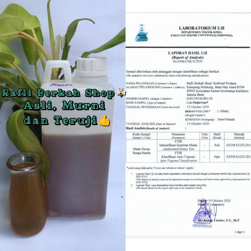 Foto Produk madu nektar pohon randu. madu randu 1000 gr bersih dari Madu asli rafli berkah
