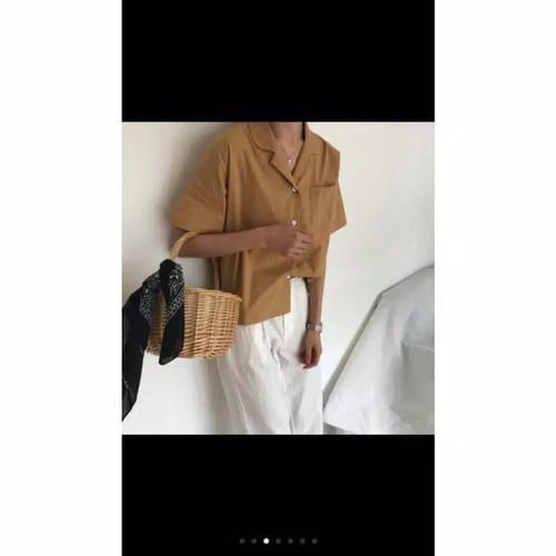 Foto Produk Kemeja Polos Casual untuk Wanita dari botolbotak