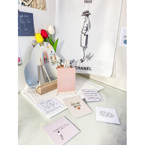 "Foto Produk Dekorasi Dinding Hias Korea - Postcard ""Affirmations-tetik"" dari Aku si Estetik"