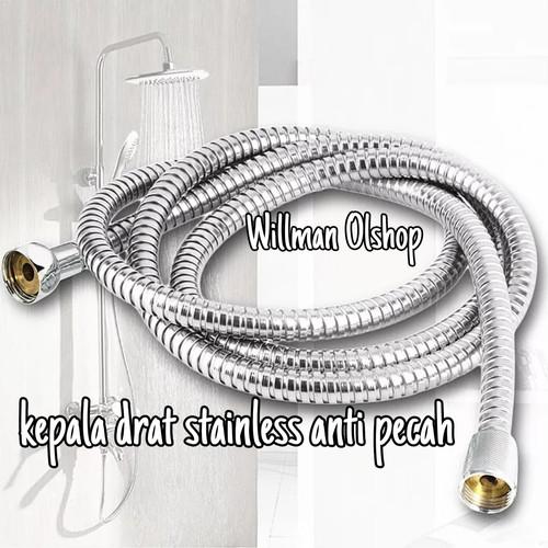 Foto Produk selang shower fleksibel hose selang shower toilet selang shower mandi - 120 cm dari Willman Olshop