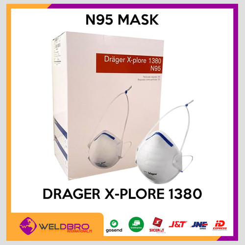 Foto Produk Drager X-plore 1380 N95 Anti Covid19/ Virus masker niosh ce 3M 8210 dari WELDBRO-