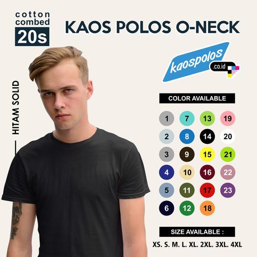 Foto Produk Tshirt / Kaos Polos Oneck Super Cotton 20s Unisex - XS dari Kaos Polos.co.id