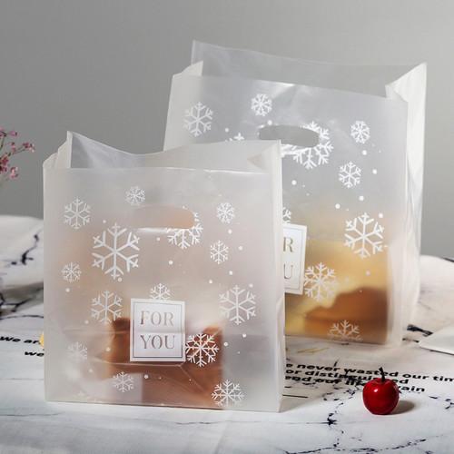 Foto Produk Kantong plastik dove transparan model jinjing / kantong Elegan Snow dari WE LOVE FASHION -GROSIR-