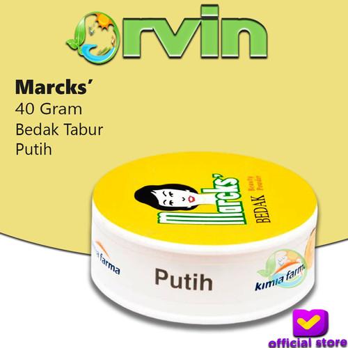 Foto Produk MARCKS BEDAK CLASSIC PUTIH 40G / BEDAK TABUR MARCKS / LOOSE POWDER dari Orvin Health & Beauty
