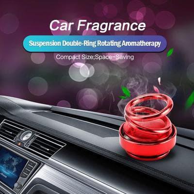 Foto Produk Parfum Pewangi Pajangan Dekorasi Mobil double Ring Putar Bergoyang 360 - Random, lemon dari lbagstore