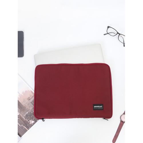 Foto Produk Wanderlust Tas Tempat Laptop Sleeve Notebook 14 inch Sedona Maroon dari Wanderlustbag Official