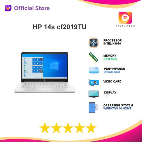 "Foto Produk HP 14s cf2019TU N4020 4GB 256ssd W10 + OHS 14"" BACKLIT dari royalltech"