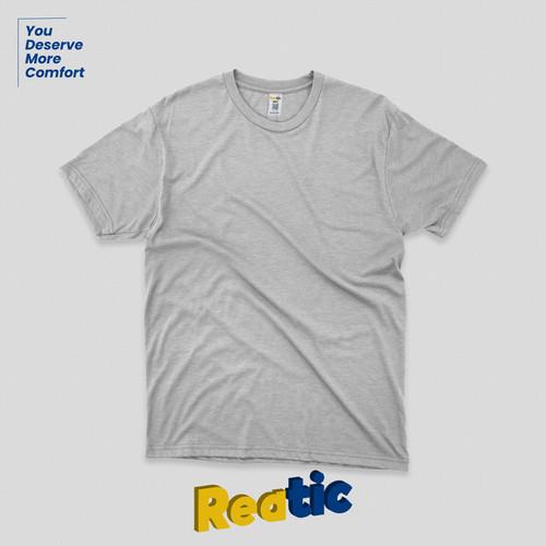 Foto Produk Reatic Kaos Polos Oblong Cotton Premium Soft - Misty Grey dari Reatic