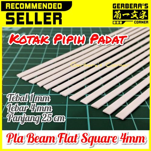 Foto Produk Plastic Beam Flat Square 4mm Pla Beam Plastic Plate Custom Model Kit dari Gerbera's Corner